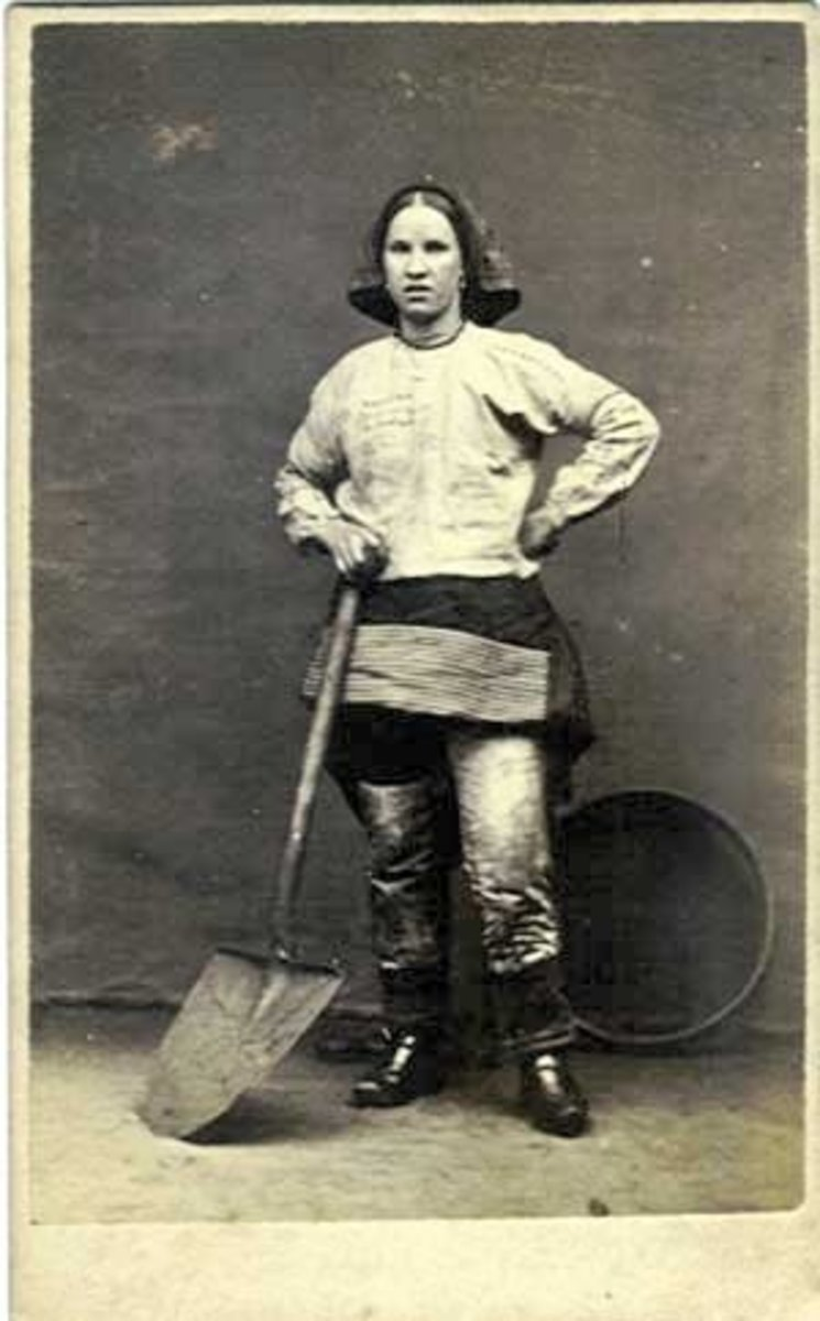 Female Miner in Pants