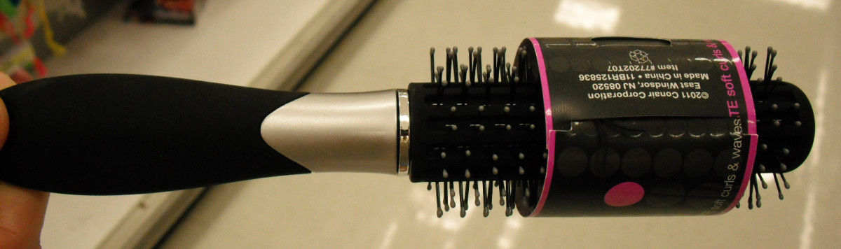 A round hairbrush give hair movement and curls when used with a blow dryer.