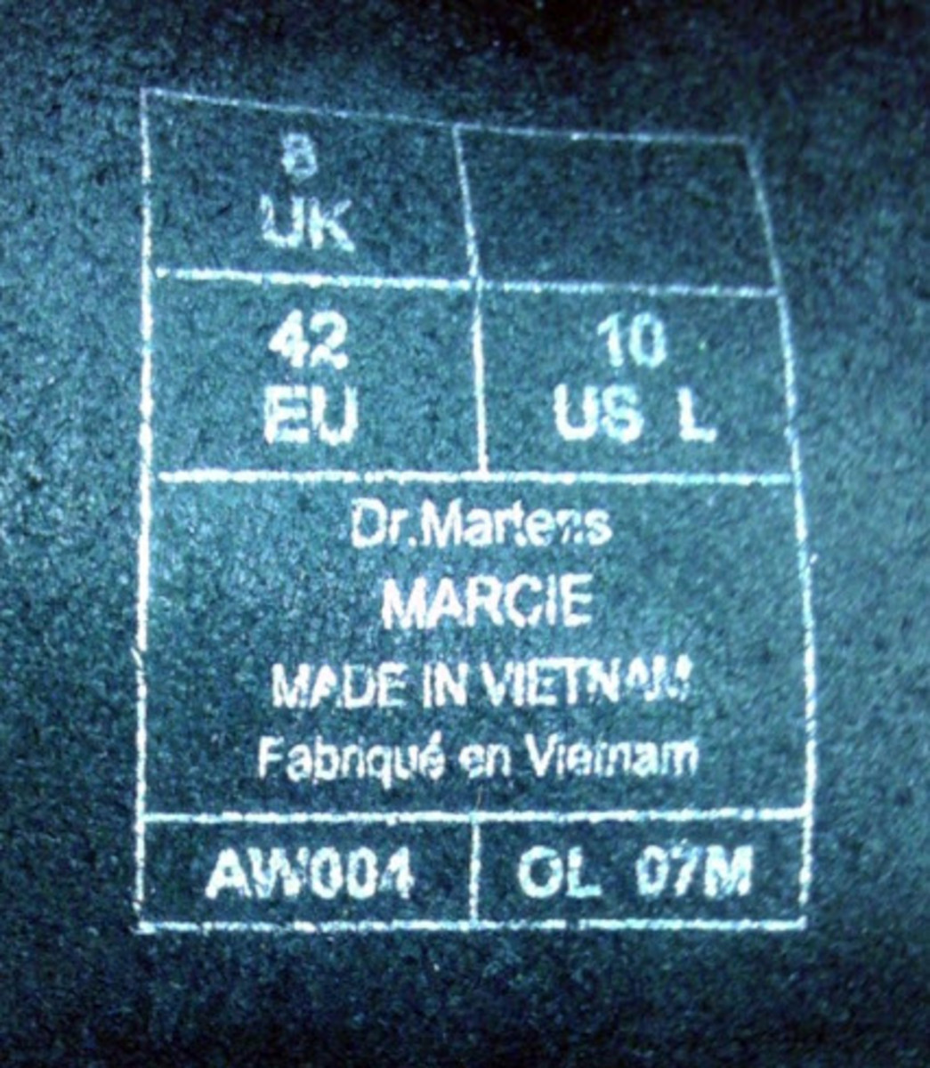The stamp on the tongue of the boot marks that they were made in Vietnam.