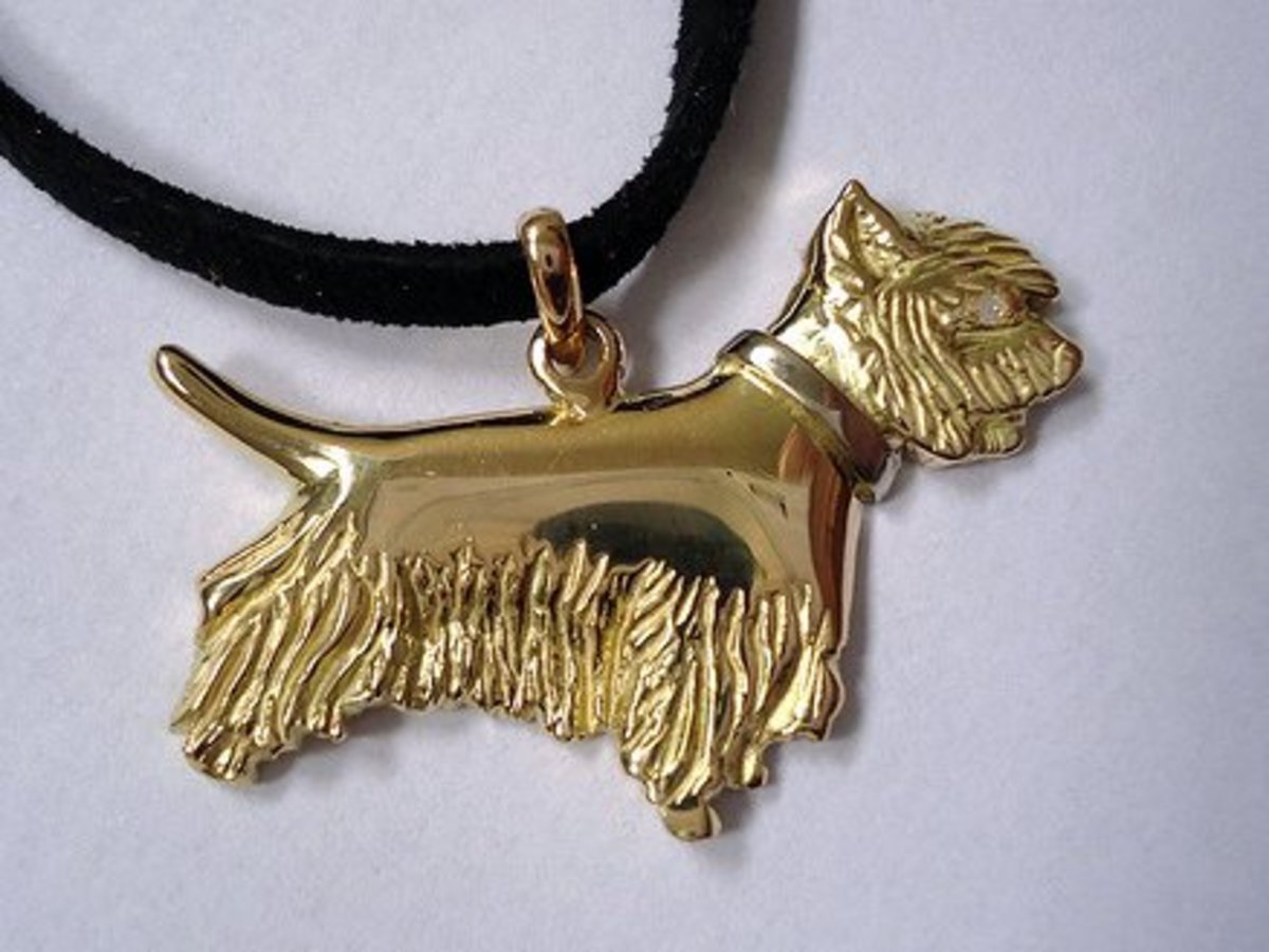 Example of jewelry made using lost wax casting technique
