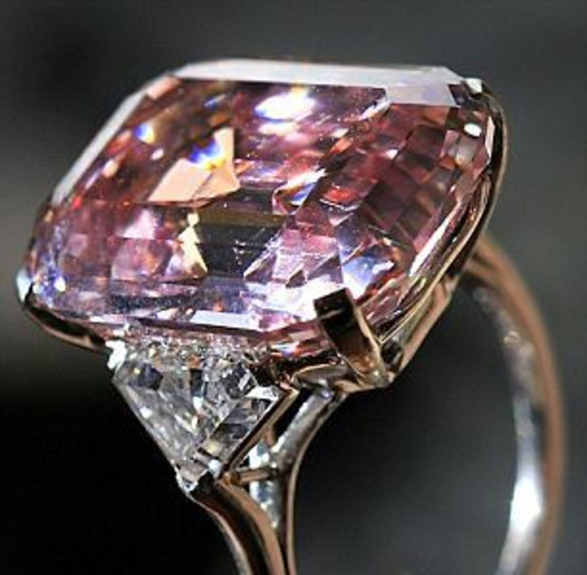 Graff natural pink diamond, one of the rarest and most expensive gems in the world