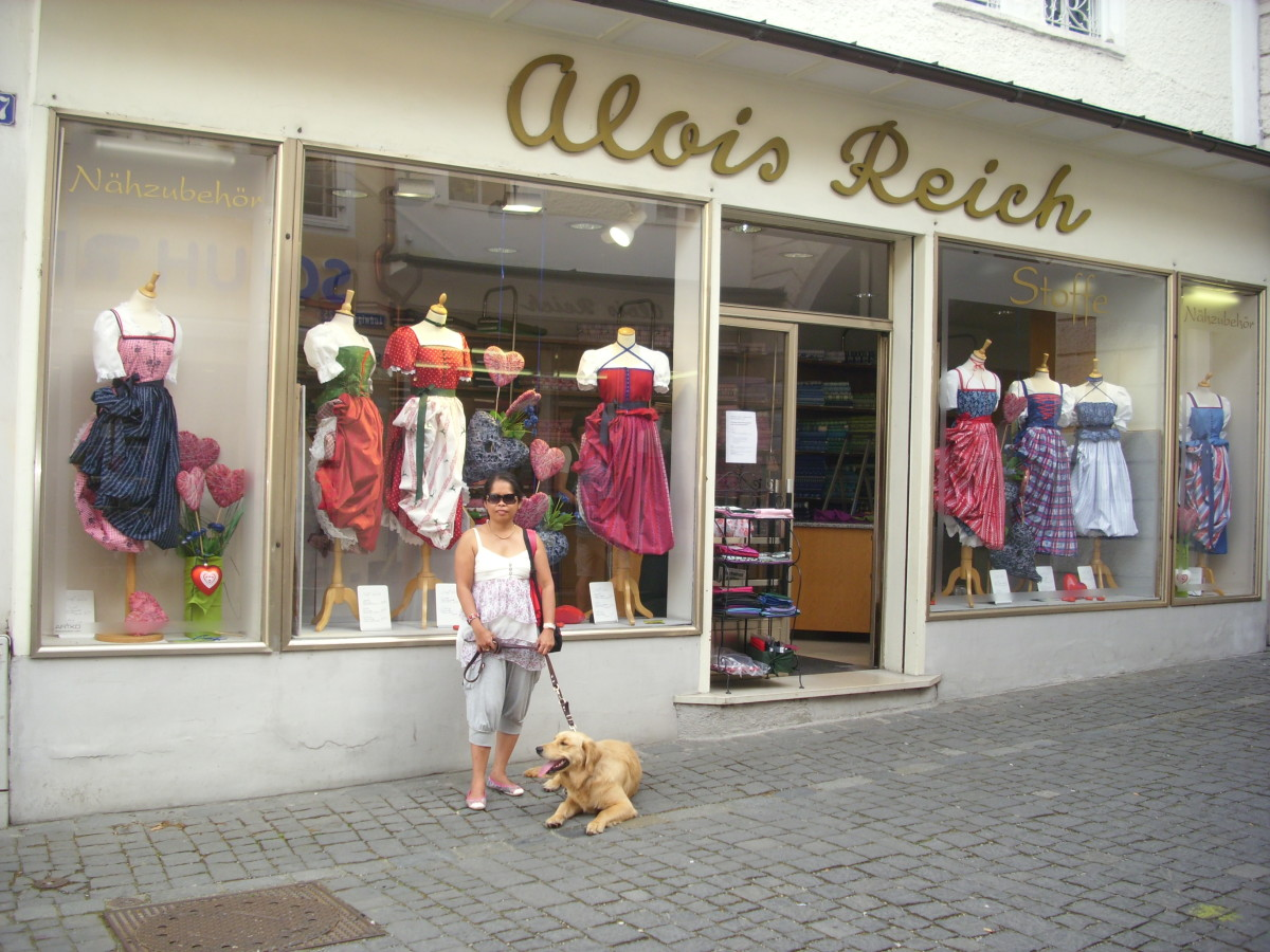 Dirndln Shop in Rosenheim, Germany