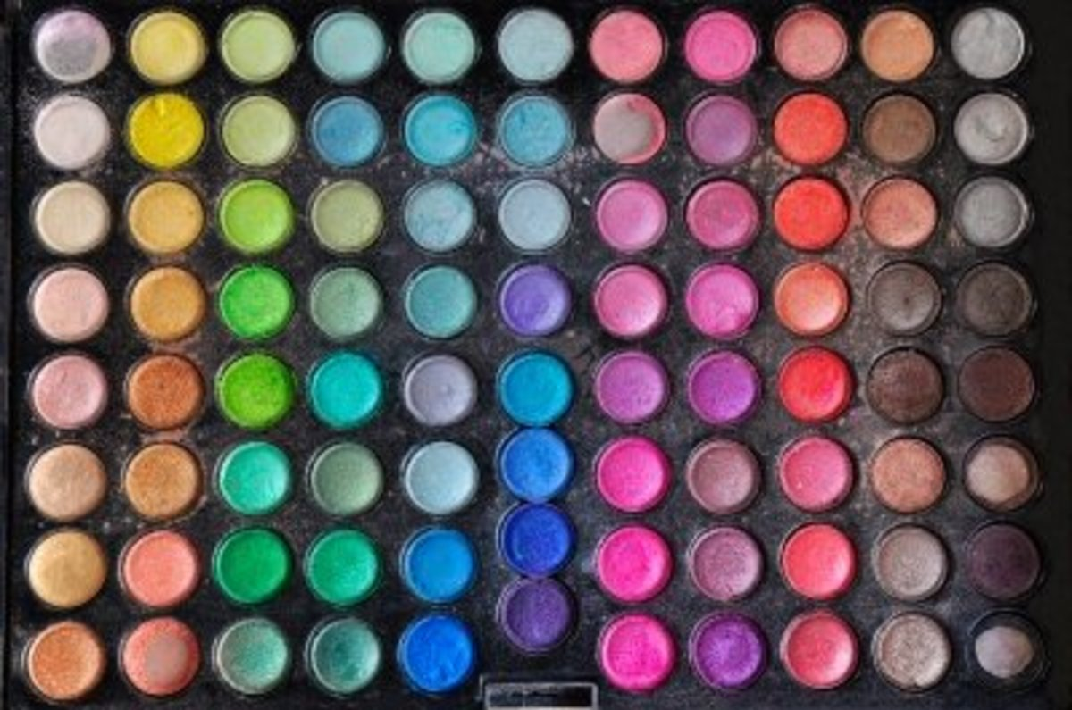 the more eyeshadows you have the more color choices for eyeliner styles and eye makeup you have.