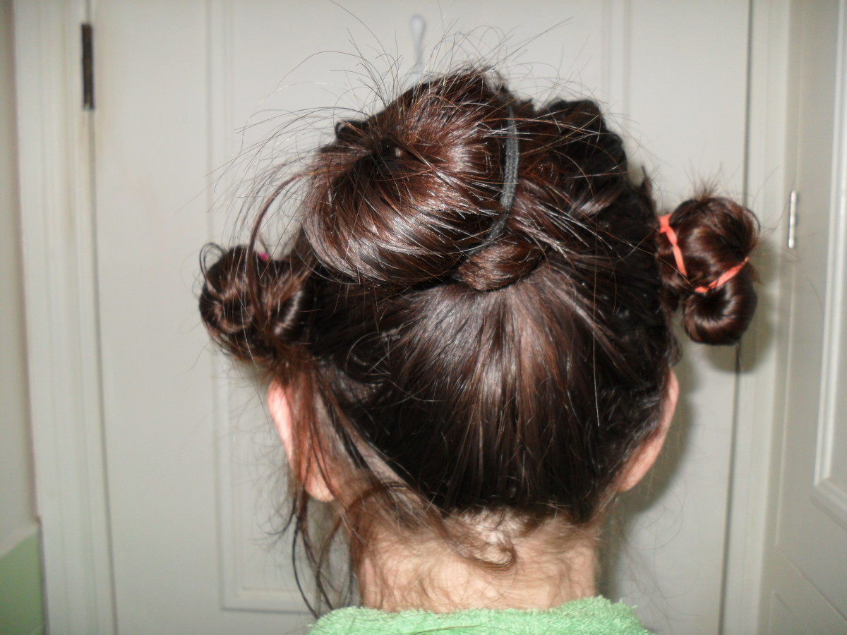 Put 3 buns in your hair to help it get wavy.