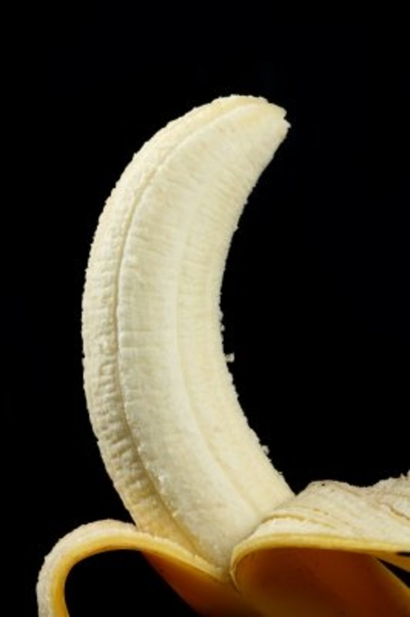 Both the banana fruit and the banana peel are beneficial to the skin so don't throw away you banana skin!