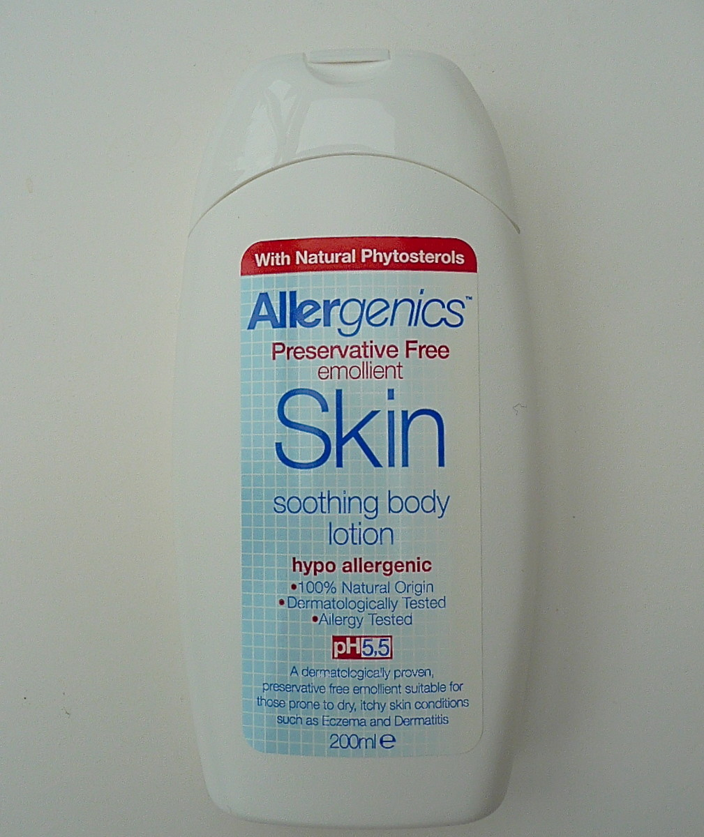 Allergenics soothing body lotion is the best.