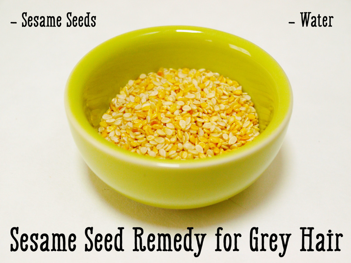 Sesame seeds are full of nutrients necessary for melanin and keratin production.