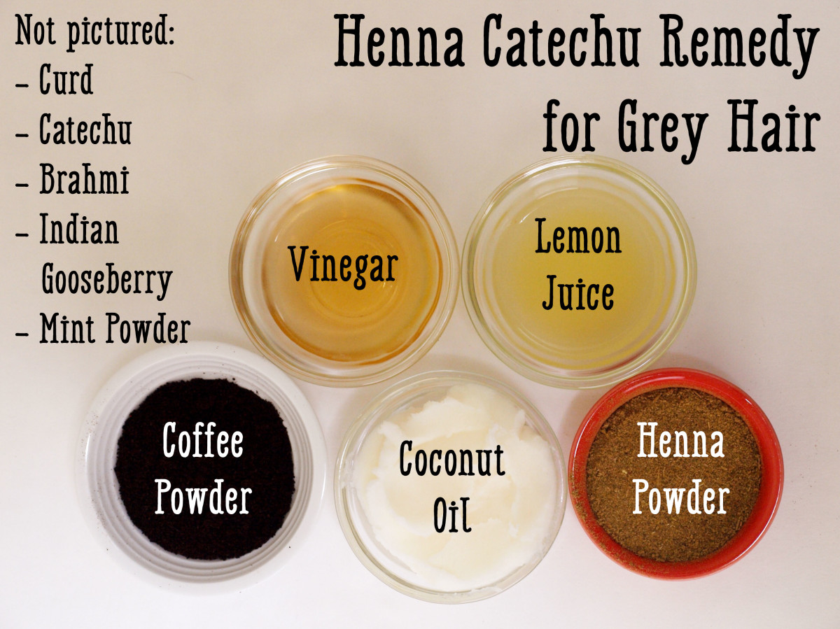 Henna and coffee work together with other ingredients in the recipe to dye your hair a darker color.