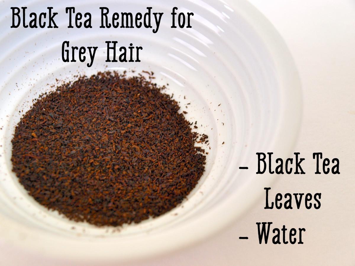 Black tea is a natural dye that will make hair darker.