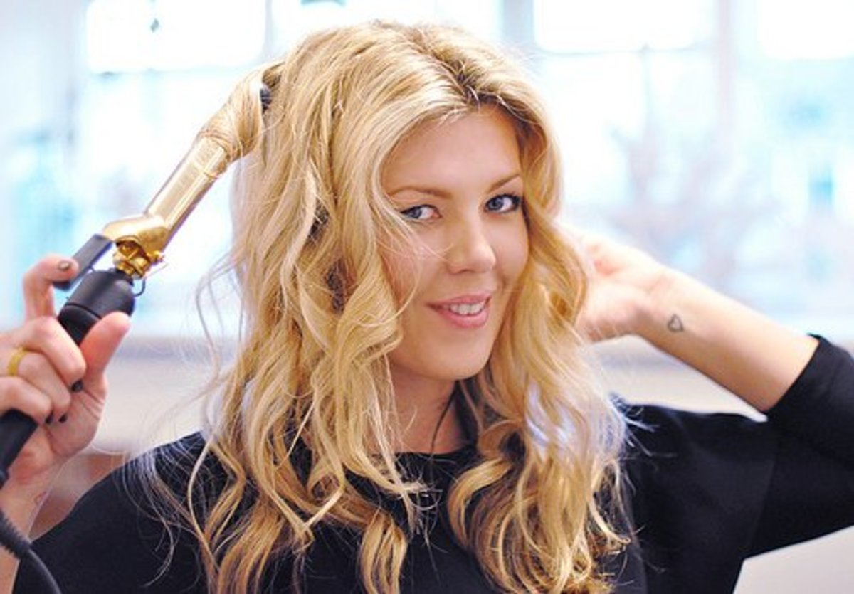 For special occasions, consider using a curling iron to create all-over curls.