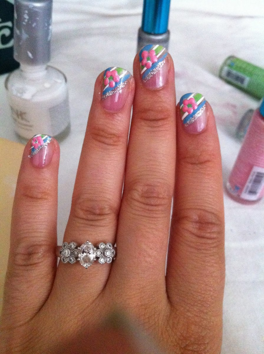 Nail art for beginners bellatory you could also skip the dot in the center and just make a circle of dots prinsesfo Gallery