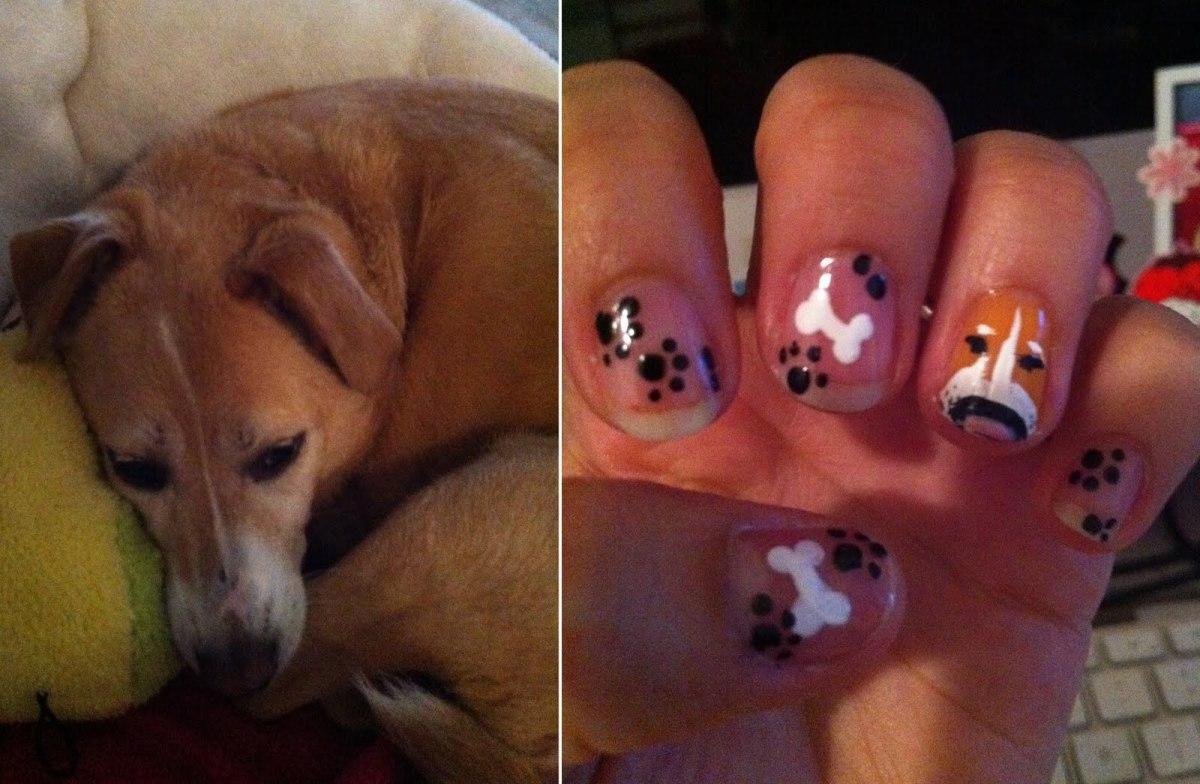 Pet dog nail art design