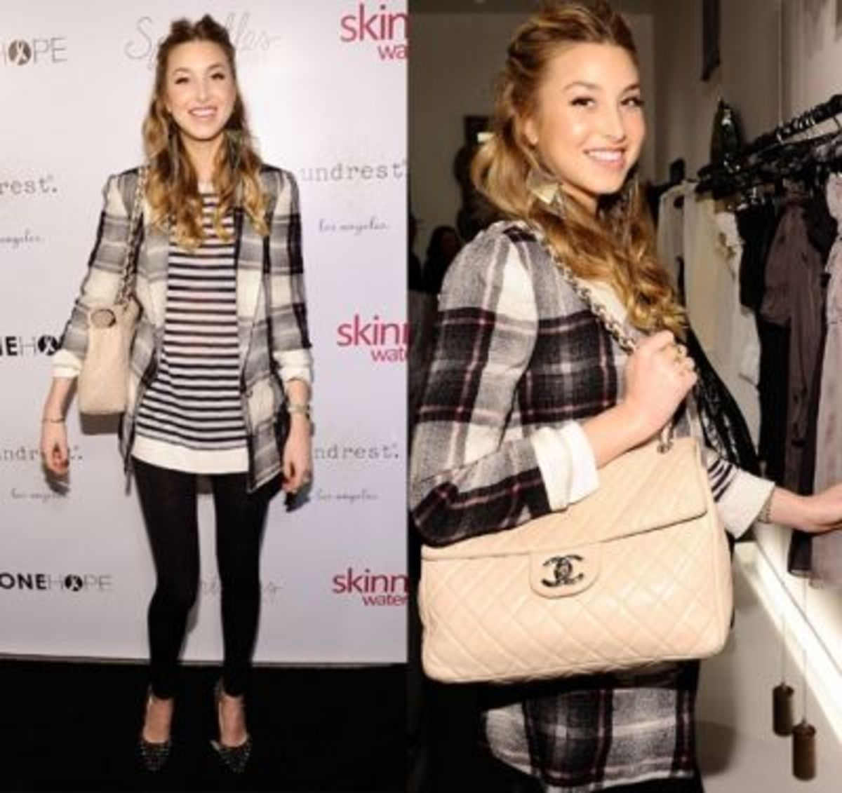 The fashionable Whitney Port nailing the look.