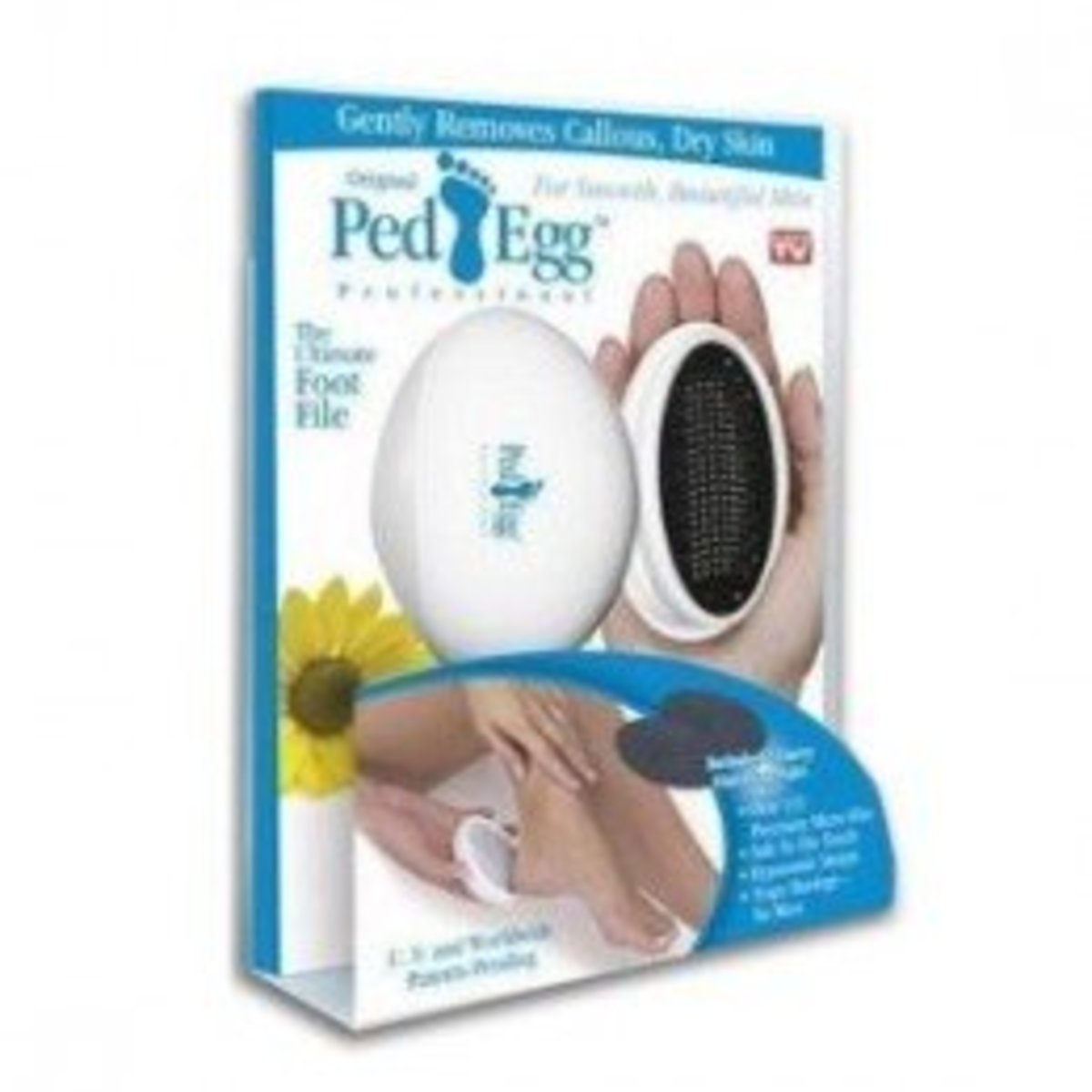 Though it's not a natural pumice stone, the Ped Egg Pedicure Foot File is still quite popular and can still be effective at getting the job done.