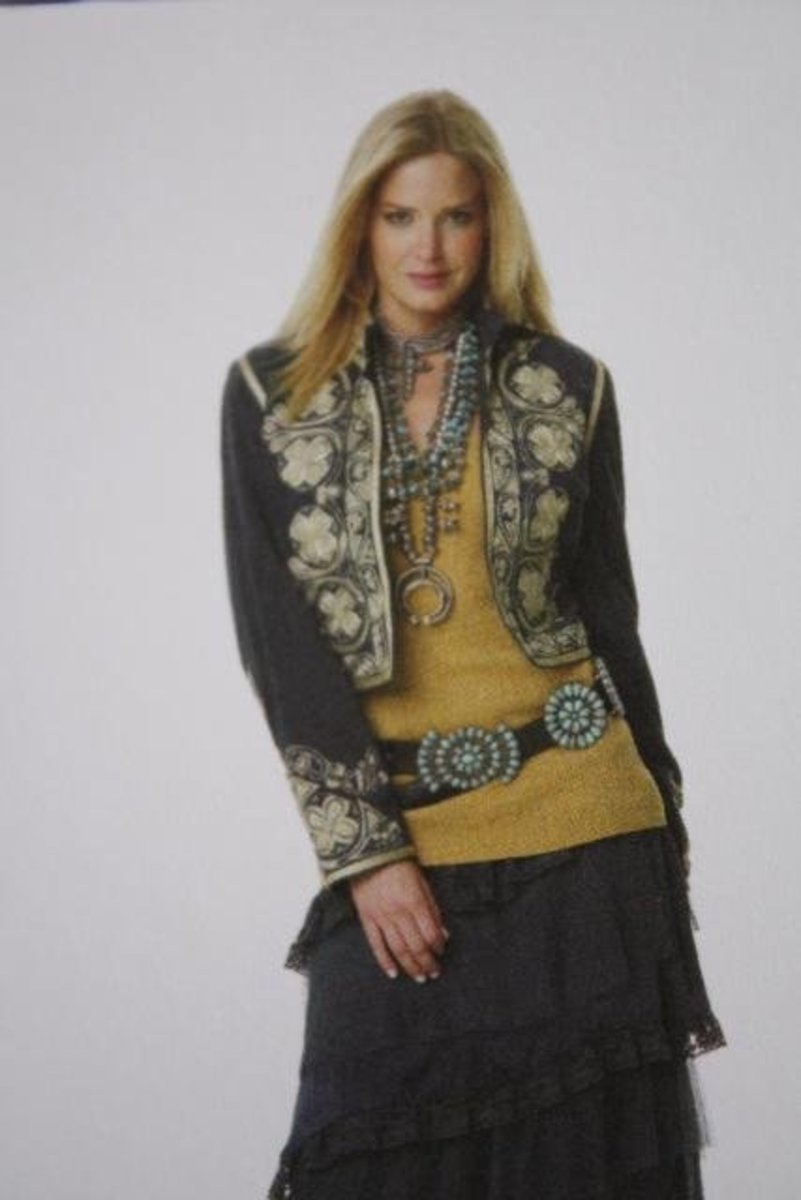 #9 concho belt with fashionable outfit