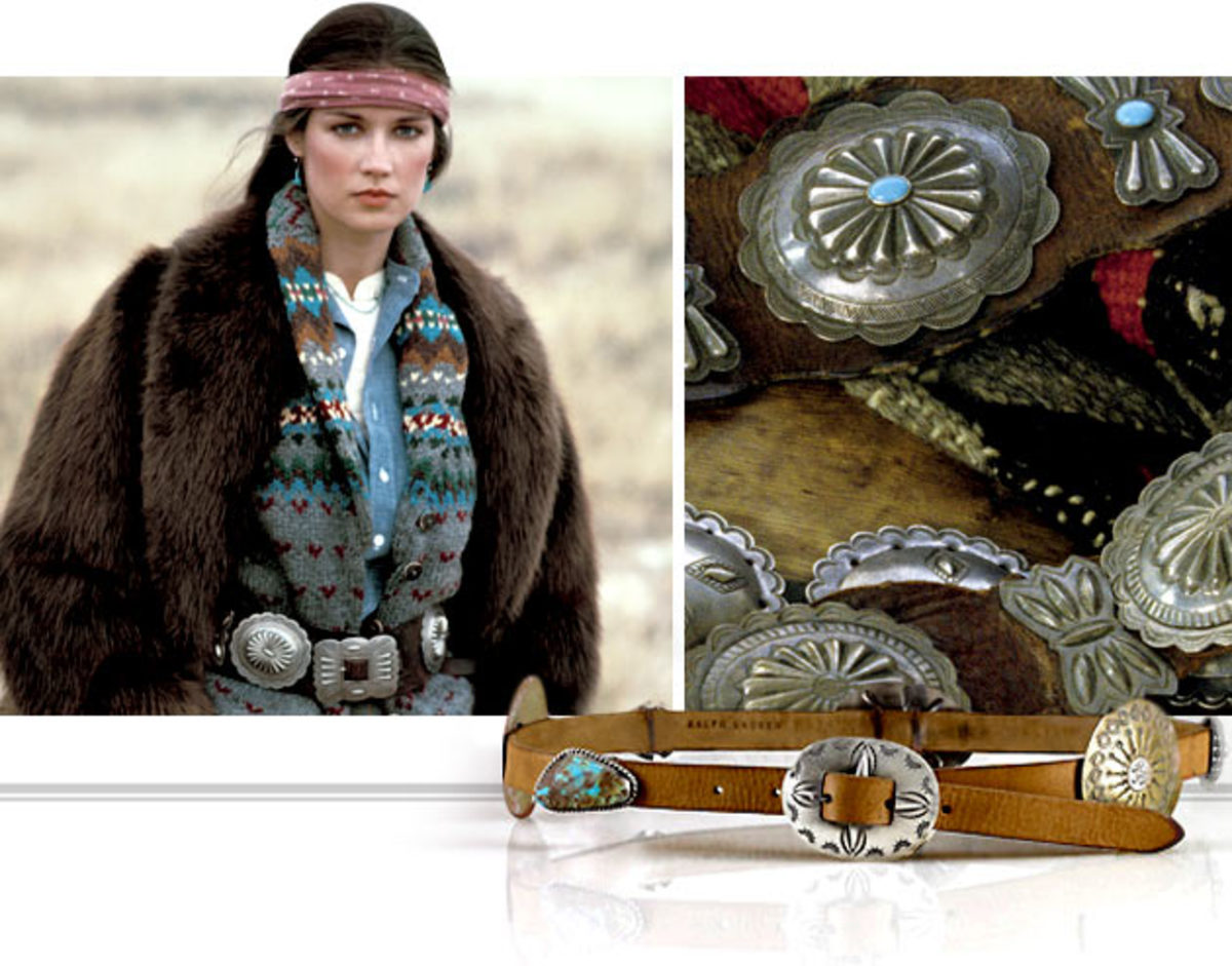 #8 elegant concho best with navajo ruana and brown coat