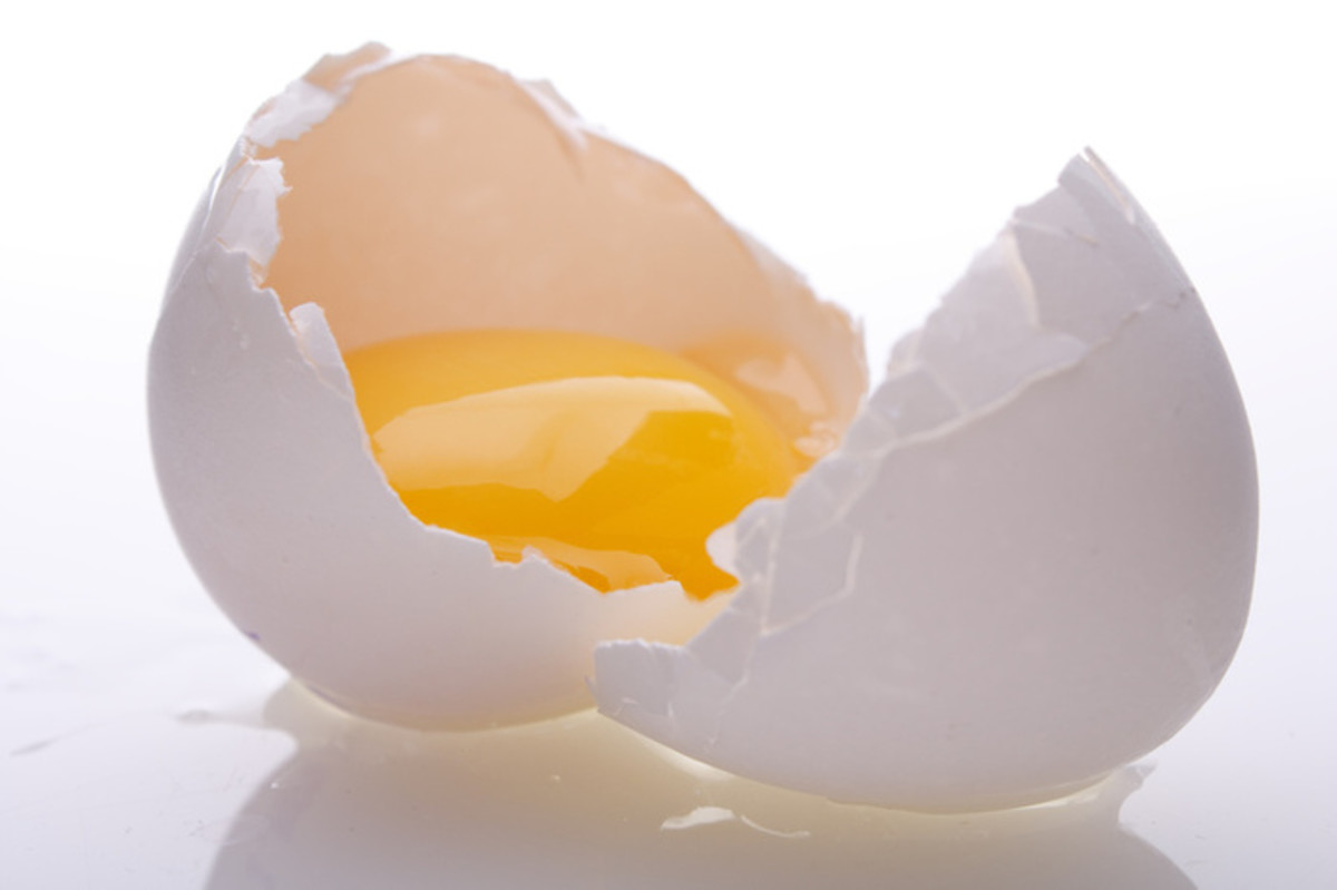 Egg white for removing flakes from scalp.