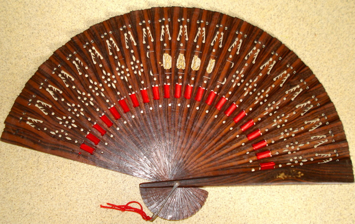 A Wooden Fan That Tells Where it Came From: Bali, Indonesia