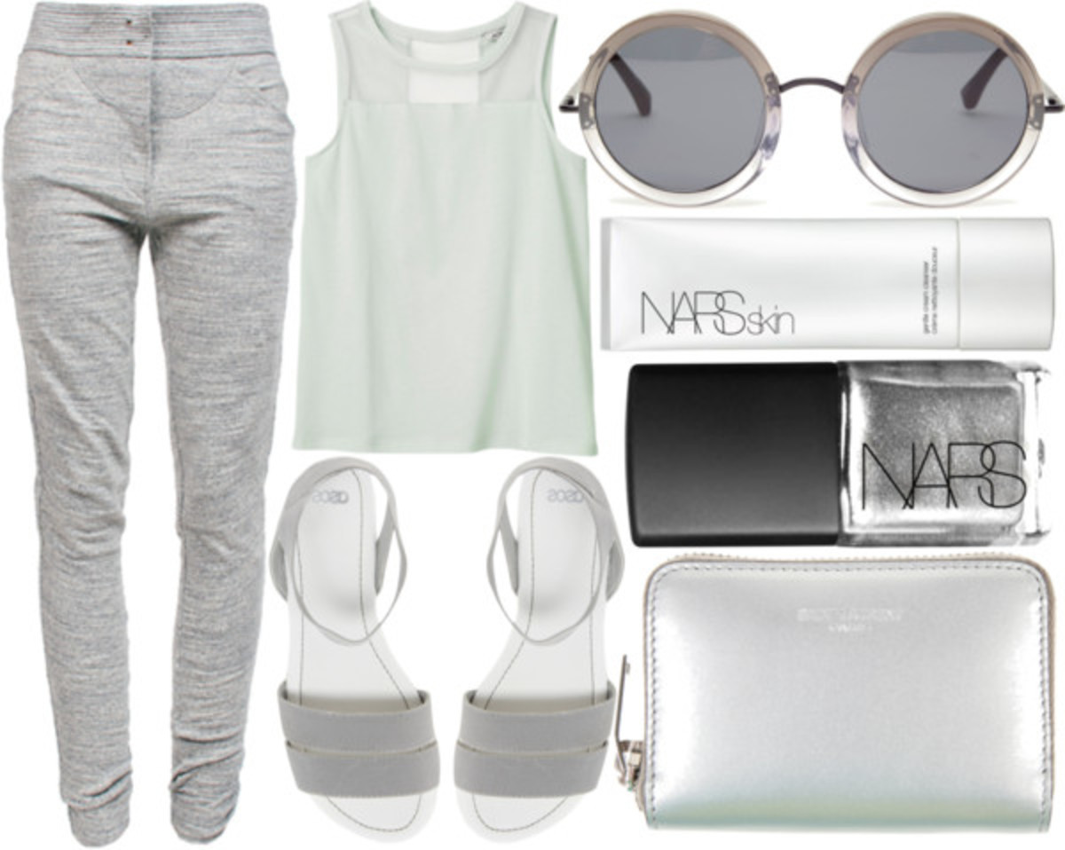 Monochromatic gray can be slimming.