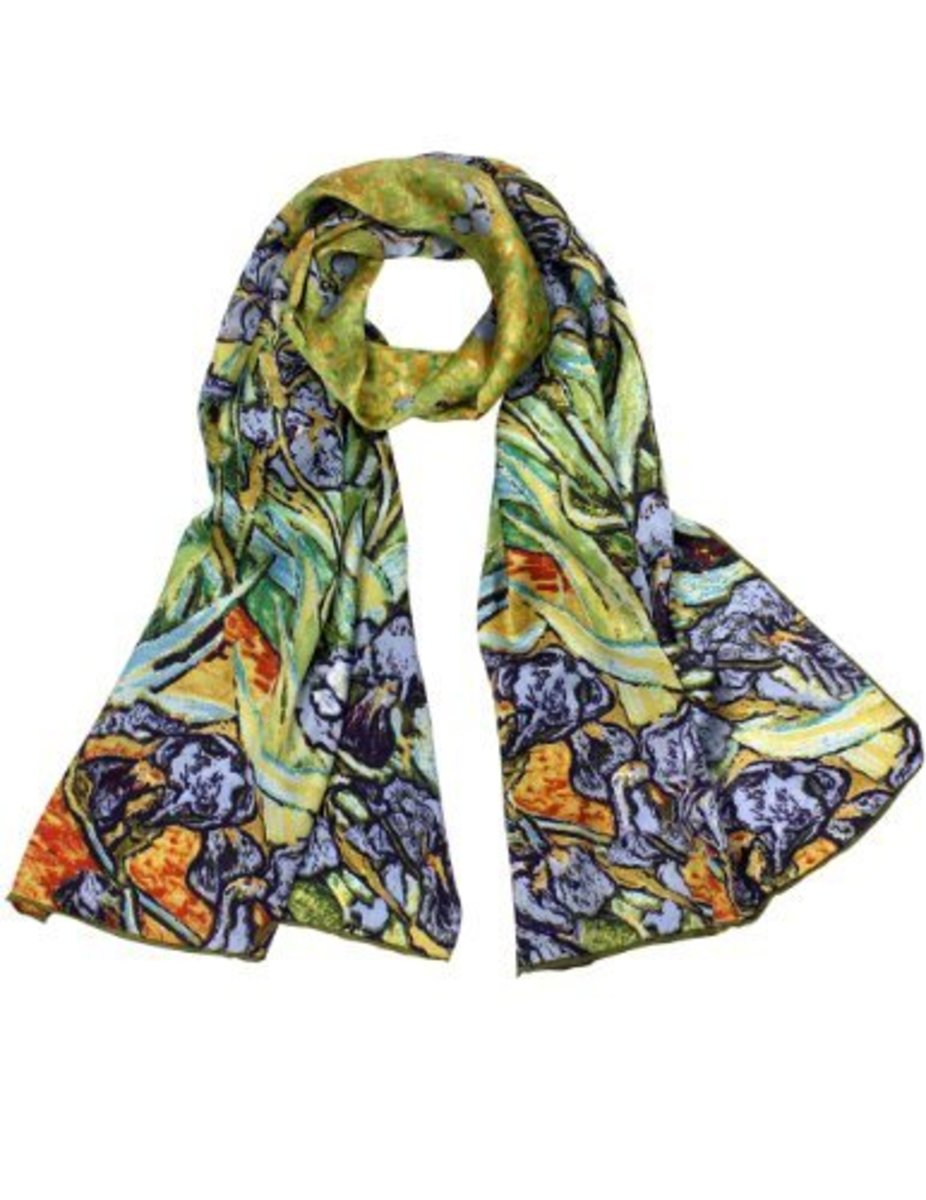 Scarves come in many shapes and can be tied in unique ways. Bring a flattering color close to your face.