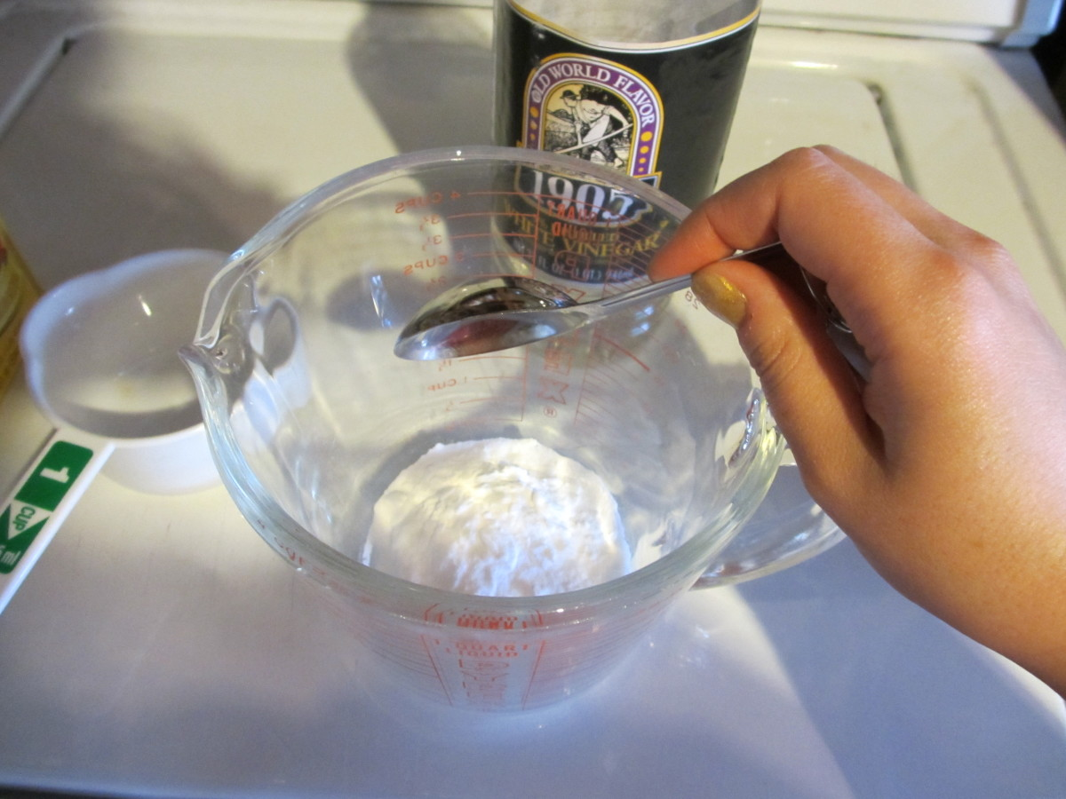 Measure one tablespoon of baking soda.