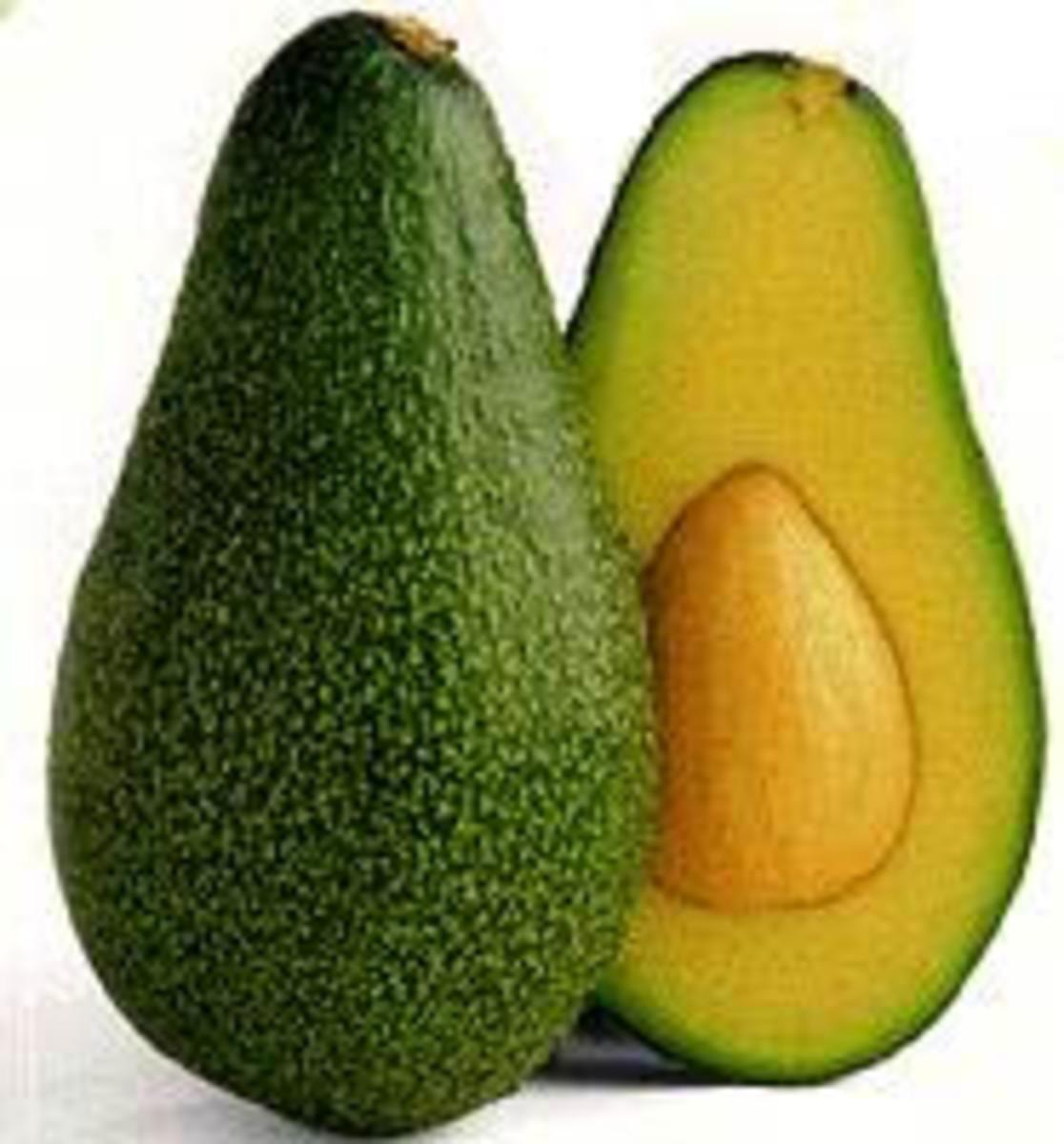 Ripe avocado fruit, also a nourishing skin ingredient.