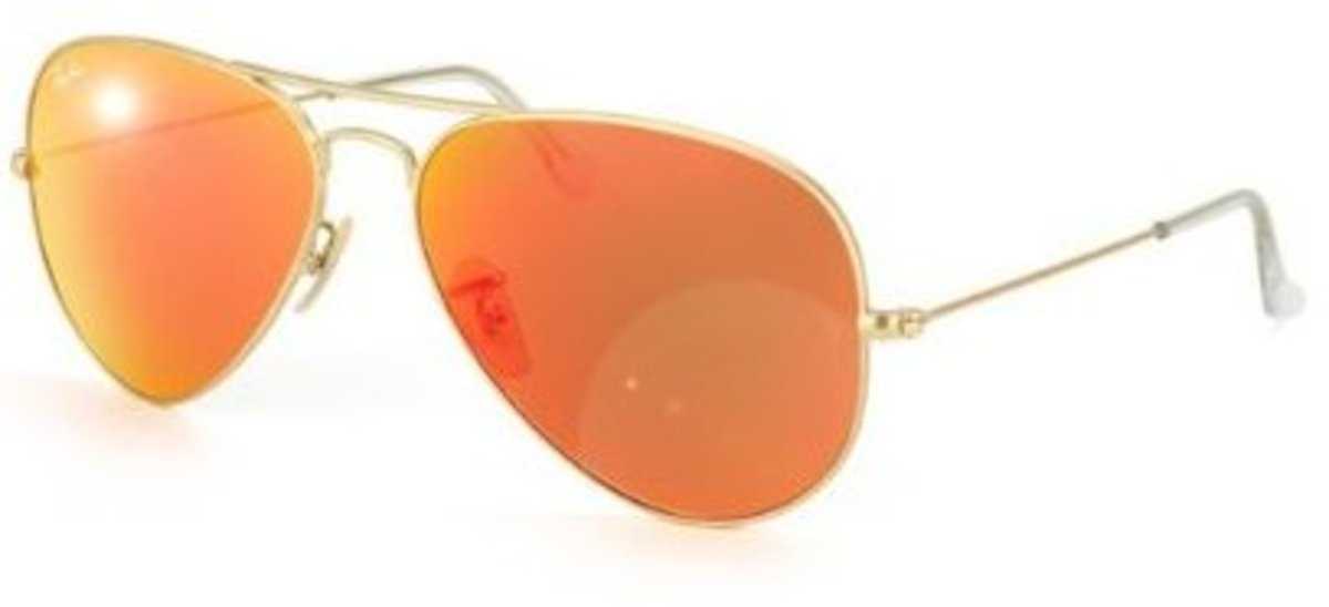Ray-Ban RB 3025 11269 Metal Aviator Gold  Brown Orange Mirror