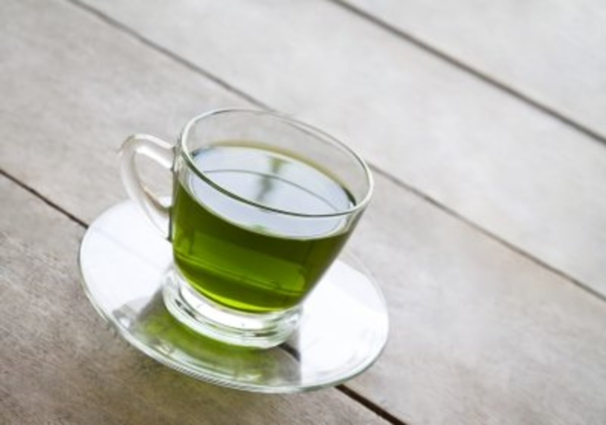 full of health benefits green tea is soothing and healing on red swollen blemishes.