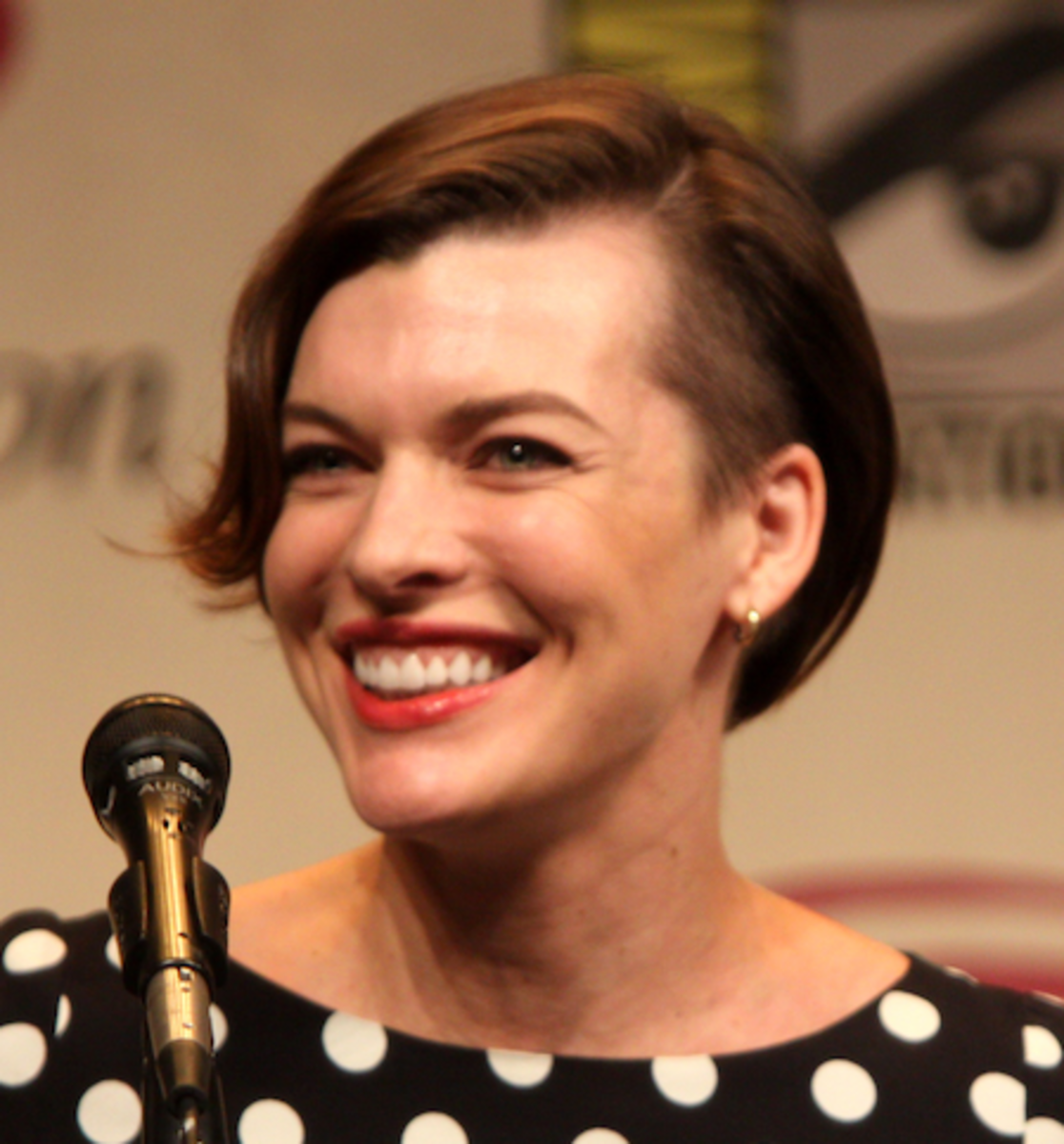 Milla Jovovich with a Side Undercut.