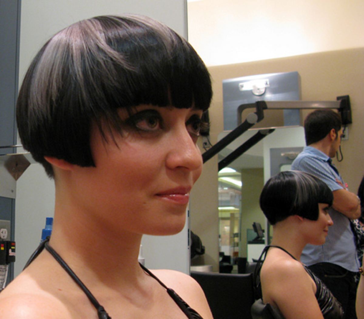 A Modern take on the Louise Brooks look.