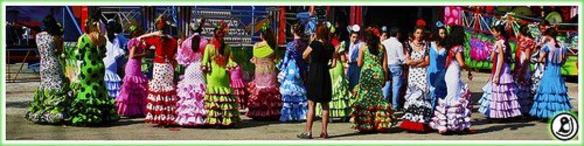 Spanish Traditional Flamenco Dress