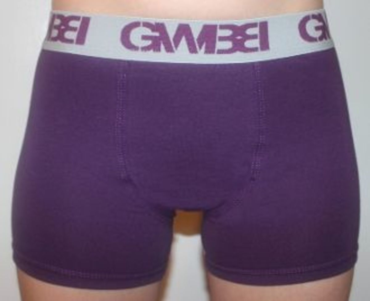 purple/grey women's boxers by GWBB