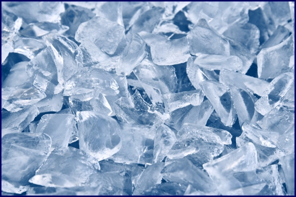 Crush Ice In a plastic bag and hit it with a wooden rolling pin if you do not have an ice crusher - messy, but therapeutic!
