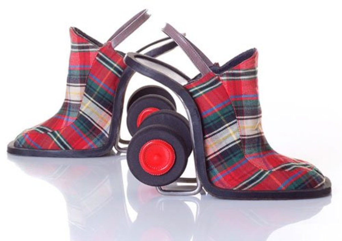 Look up your clan colours and get these shoes custom made to show the world who is the better fish haggler.