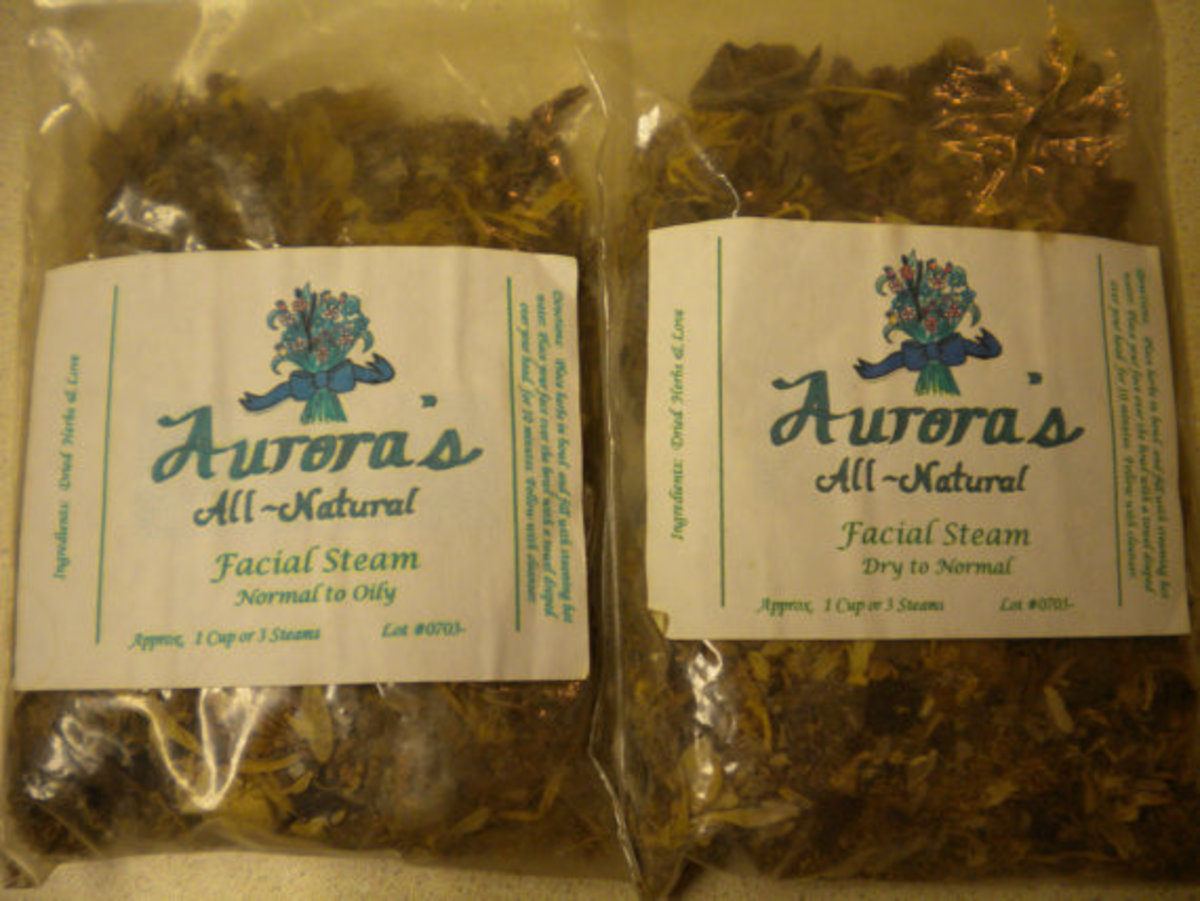 All Natural Facial Herbs for Normal, Oily and Dry Skin Types