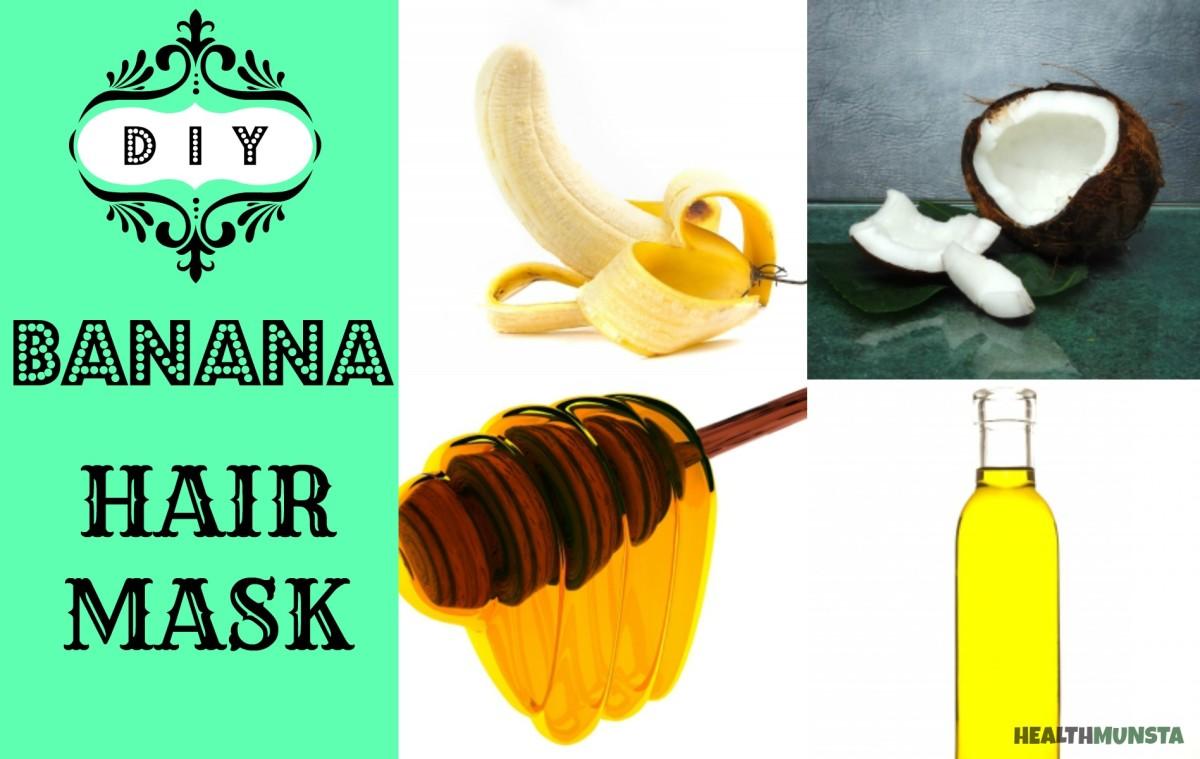 This homemade banana hair mask will nourish dry hair and regulate hair oil.
