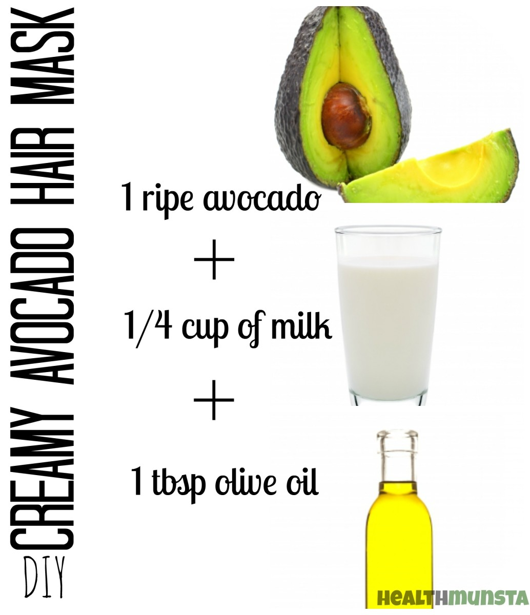 This creamy homemade avocado hair mask is perfect for restoring bounce to dry, brittle hair.