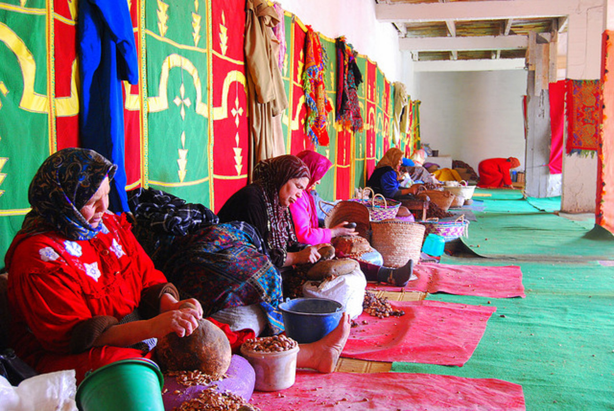Argan oil is usually obtained by women.