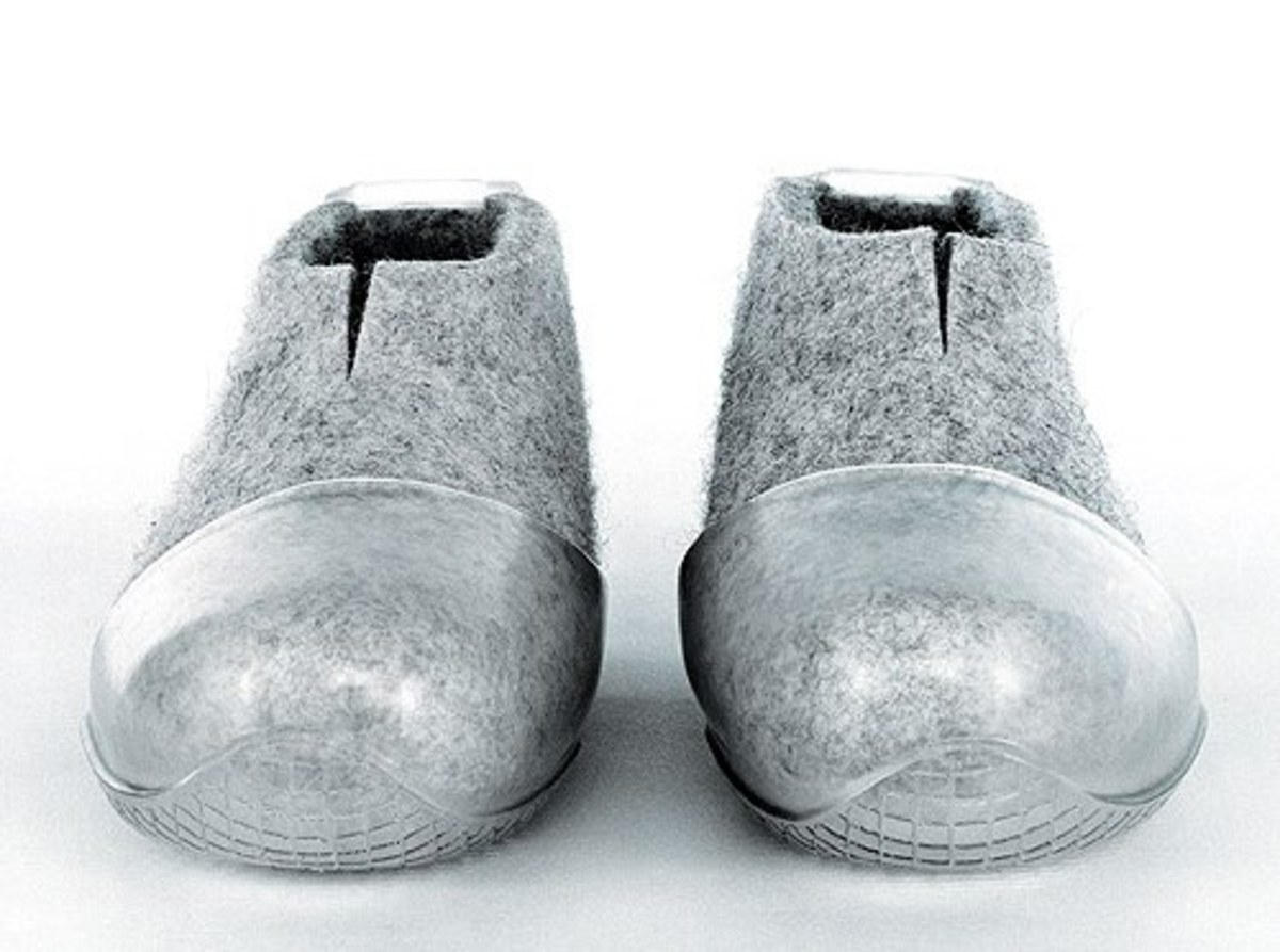Why anyone thought to make a shoe out of a combination of metal and felt is beyond my comprehension.