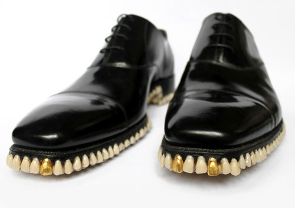 "These shoes scream ""old cunning codger with a sense of humour!"" so make sure you don't have a sense of humour when you go out, just to confuse people."