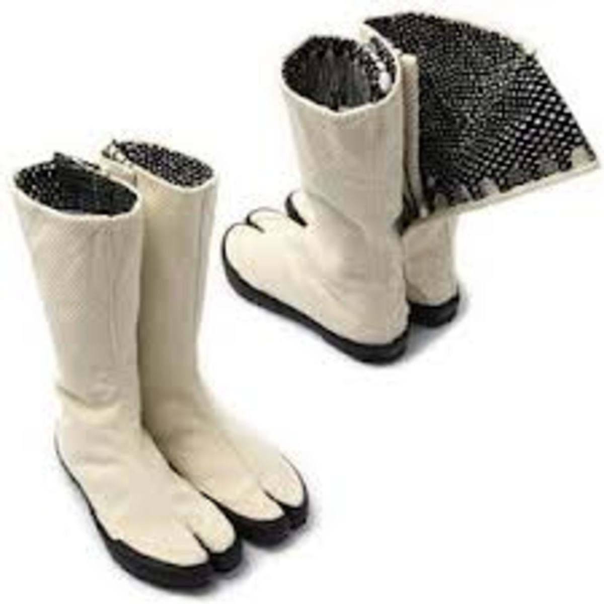 Since these boots are reminiscent of goat hooves, maybe they could be used on a farm.