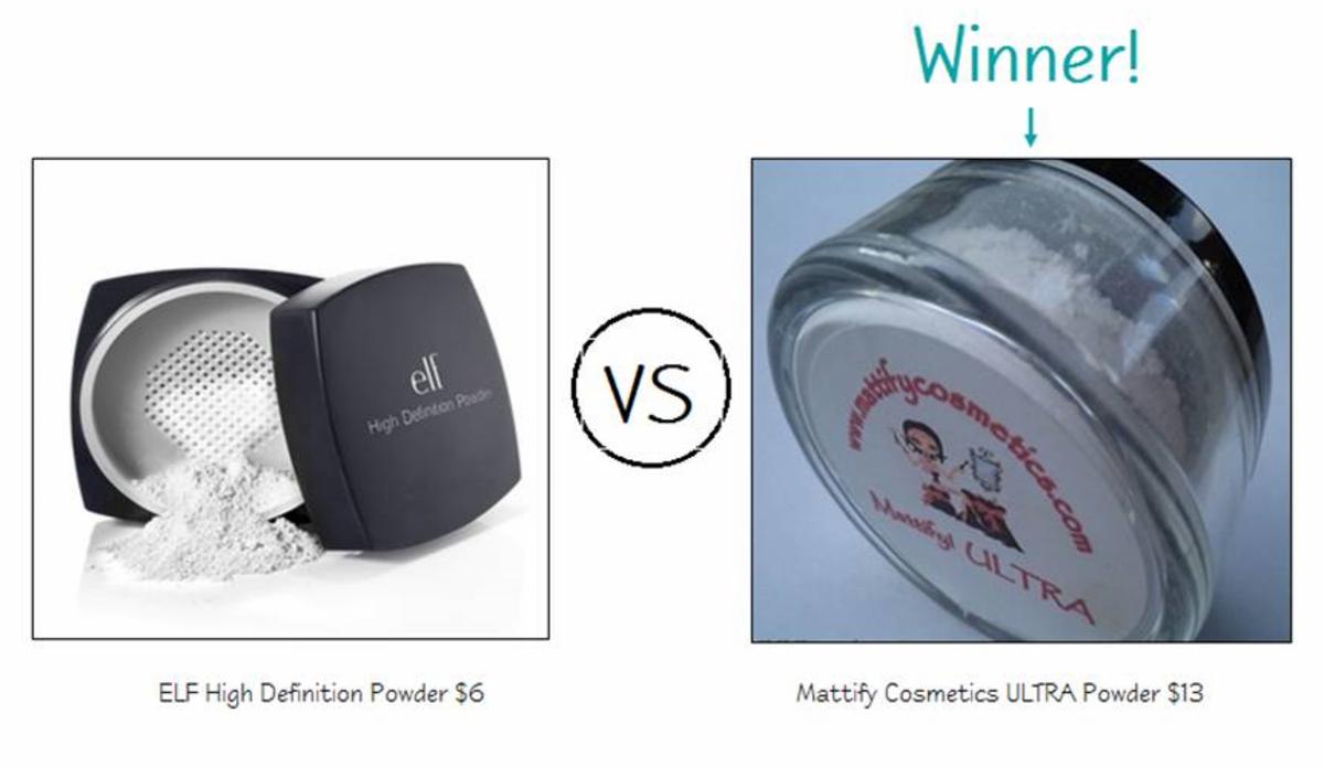 ELF Studio High Definition Powder vs. Mattify Ultra Powder