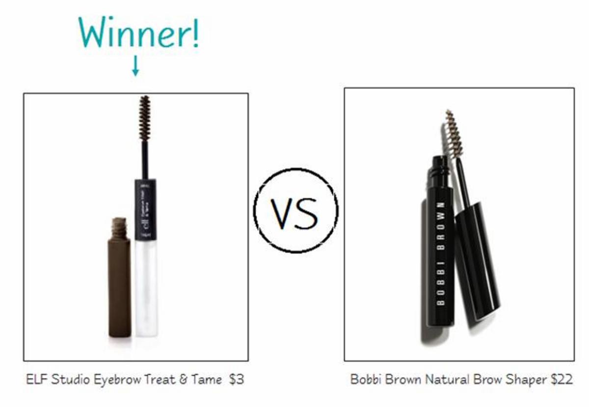 ELF Studio Eyebrow Treat & Tame vs. Bobbi Brown Natural Brow Shaper Mascara