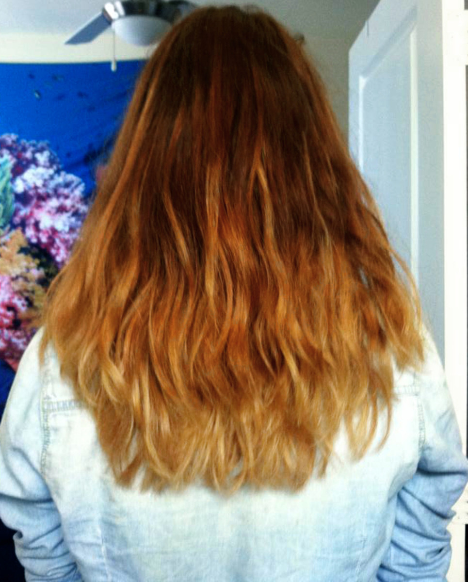 Oh, you like ombres? Ombre hair, ombre shirt, ombre everything!