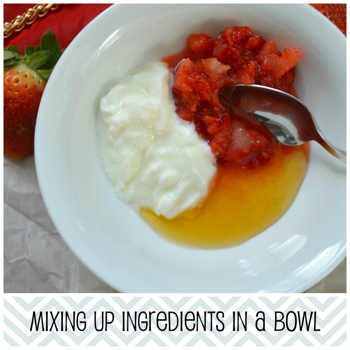 Use a fork or simply give it a whizz in the blender for a smoother face mask that will be easier to apply.