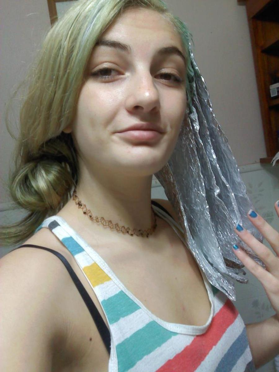 Tin foil for hair!
