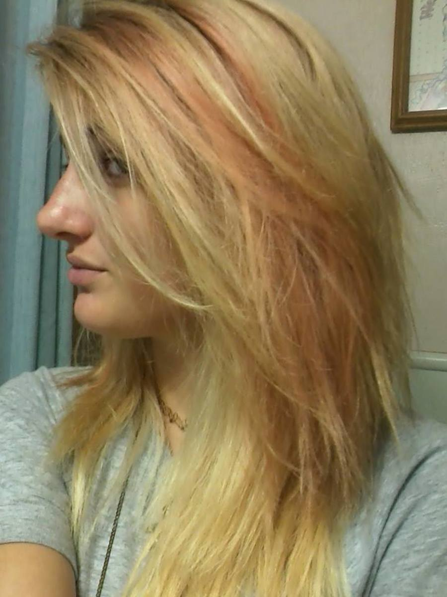 Right after washing the dye out and hair drying.