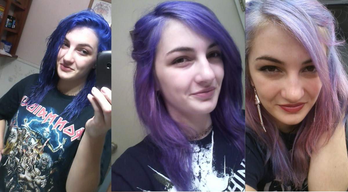 Manic Panic Ultra Violet Fading to Lavender