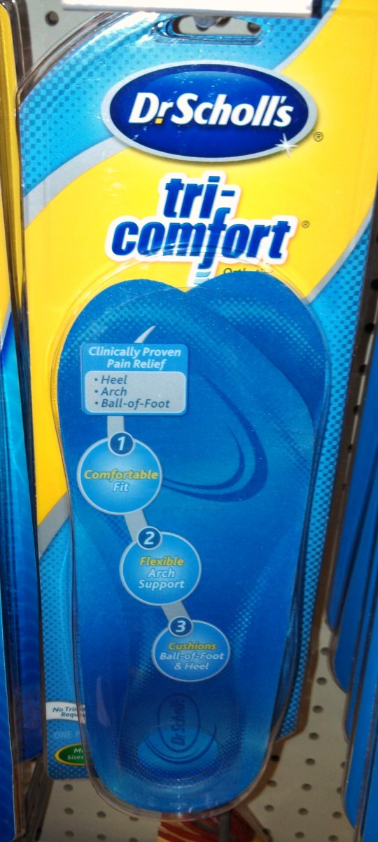 """I Selected the """"tri-comfort"""" 3/4 Length Insert to Make My Old Shoes Comfortable"""
