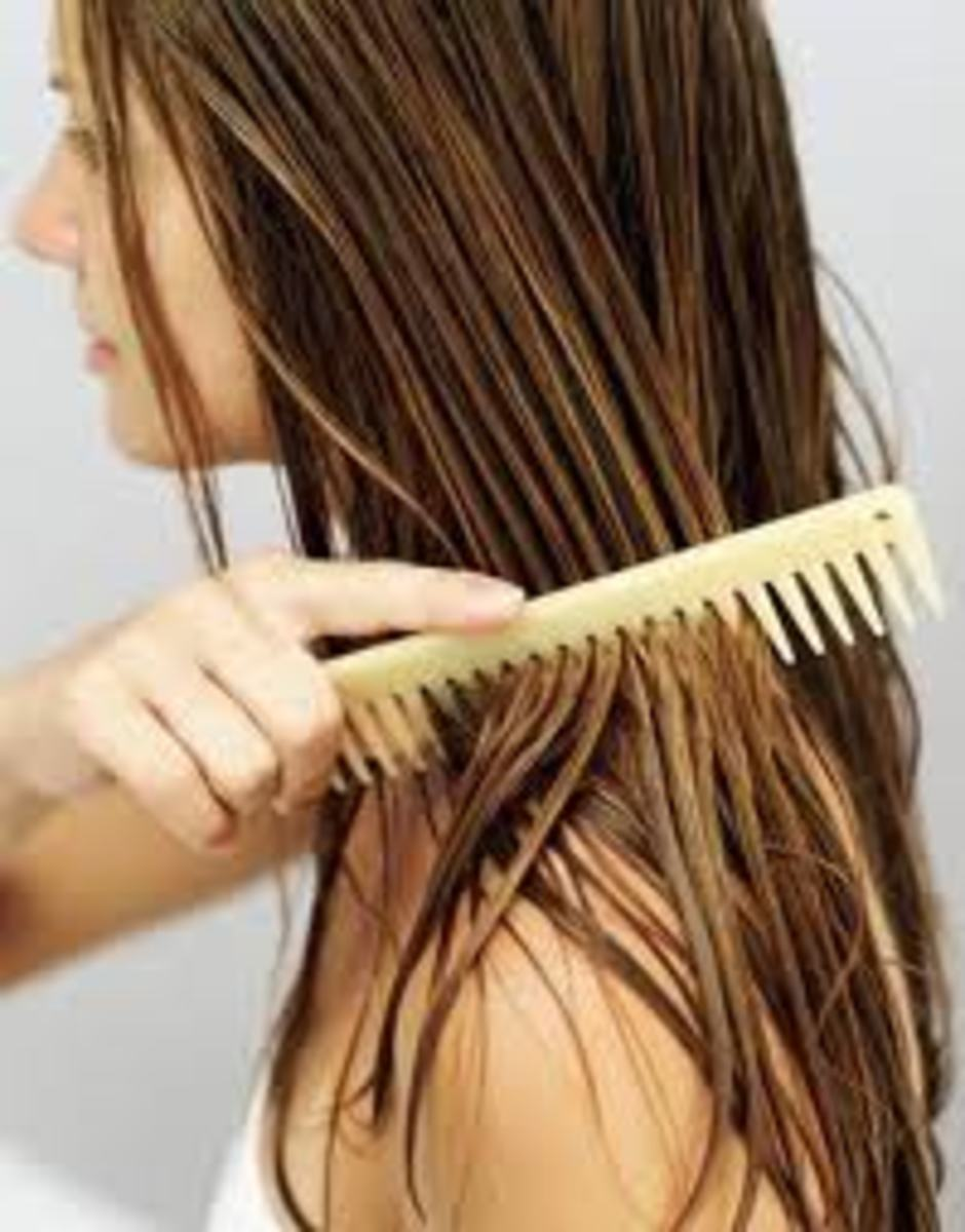 Use a comb to get out any knots.